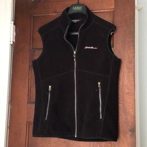 Eddie Bauer Black fleece vest Men's small